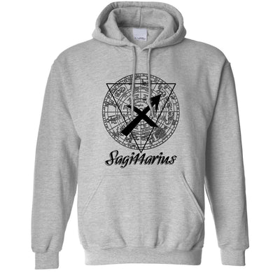 Horoscope Hoodie Sagittarius Zodiac Sign Birthday Hooded Jumper