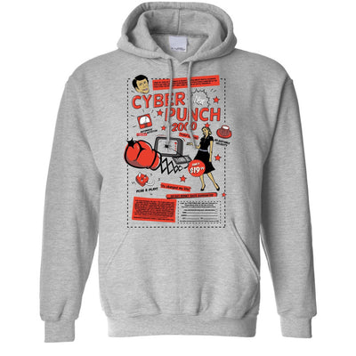 Cyber Punch 2000 Punch Face Over Internet Meme Funny Geek Hoodie