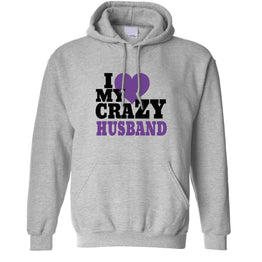Fun Couples Unisex Hoodie I Love My Crazy Husband