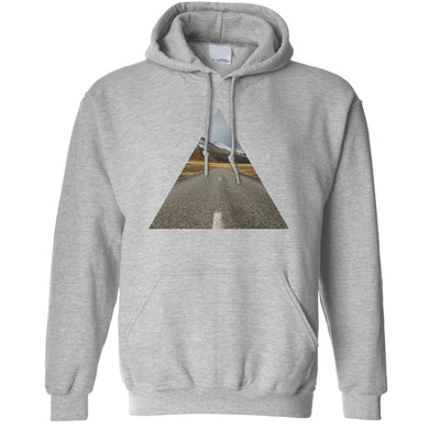 Photographic Art Hoodie Geometric Triangle Road Hooded Jumper