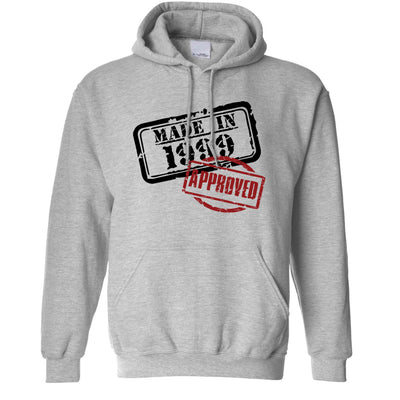 21st Birthday Hoodie Distressed Made in 1999 Approved Hooded Jumper