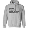 Shredding Hoodie The Skate Park List Hooded Jumper