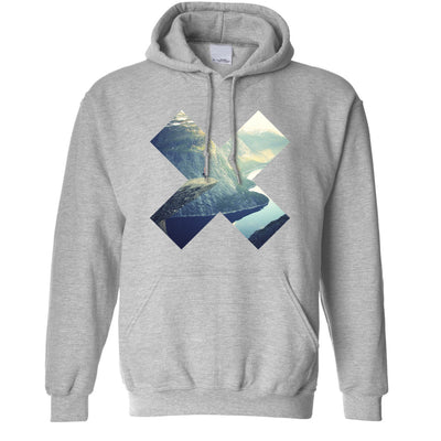 Photographic Art Hoodie Geometric Cross Landscape