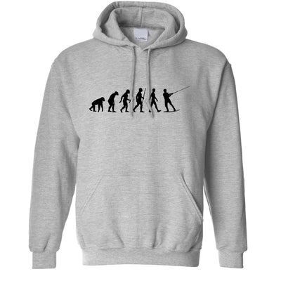 Watersports Hoodie Evolution Of Kitesurfing Sea Surf Hooded Jumper