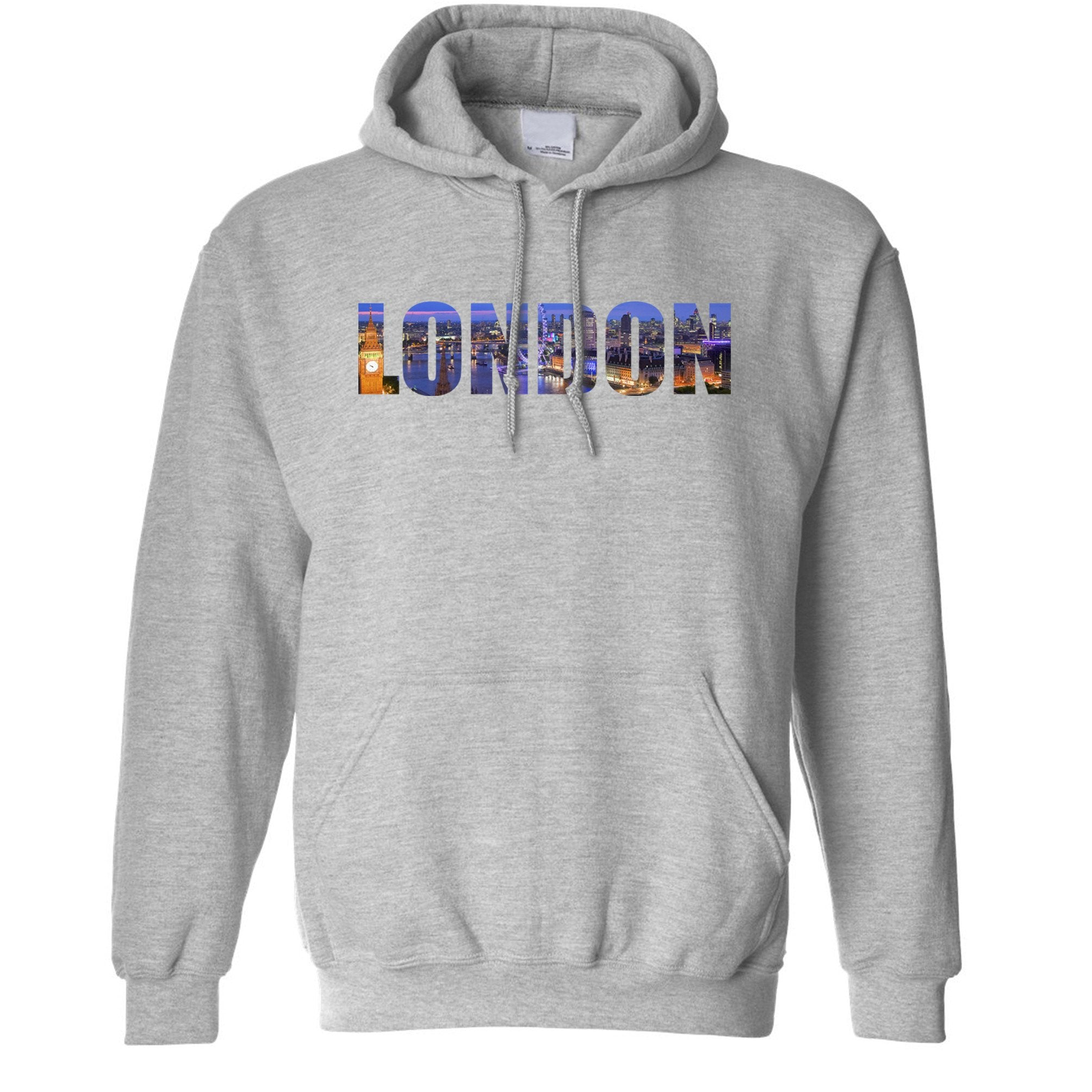 Tourist Hoodie City Of London At Night Text Cutout Hooded Jumper
