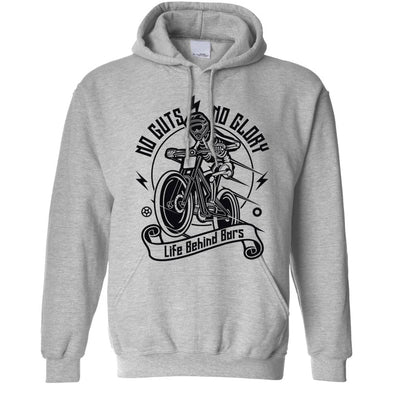 Cycling Hoodie No Guts No Glory Mountain Biking Bike Hooded Jumper