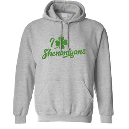 Novelty St Patricks Day Unisex Hoodie I Love Shenanigans