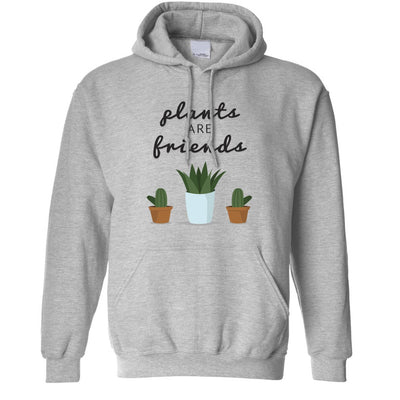 Cute Gardening Hoodie Plants Are Friends Cactus Hooded Jumper