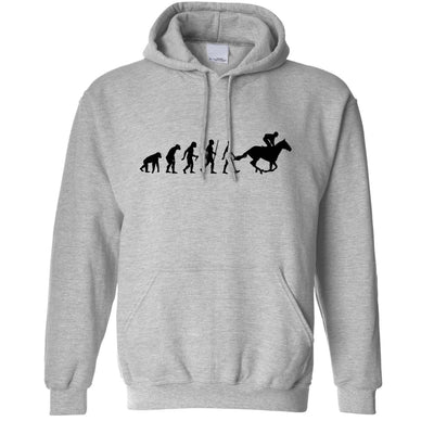 Sport Hoodie Evolution Of Horse Riding Equestrian Hooded Jumper