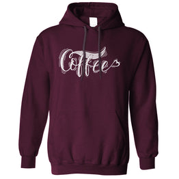 Novelty Slogan Unisex Hoodie Coffee Heart Logo
