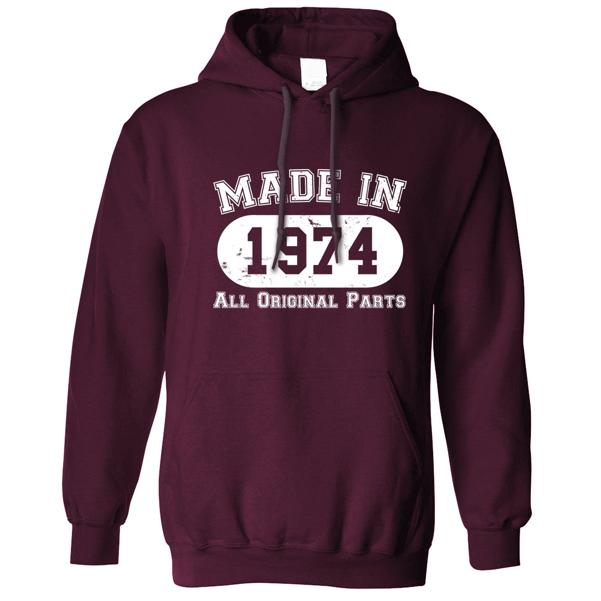 Made in 1974 All Original Parts Hoodie [Distressed]