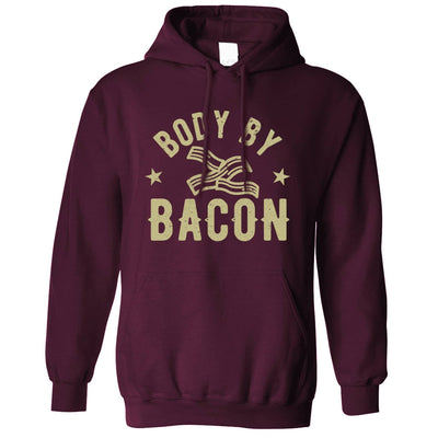 Novelty Food Hoodie Body By Bacon Joke Logo Hooded Jumper