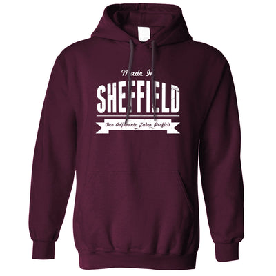 Hometown Pride Hoodie Made in Sheffield Banner Hooded Jumper