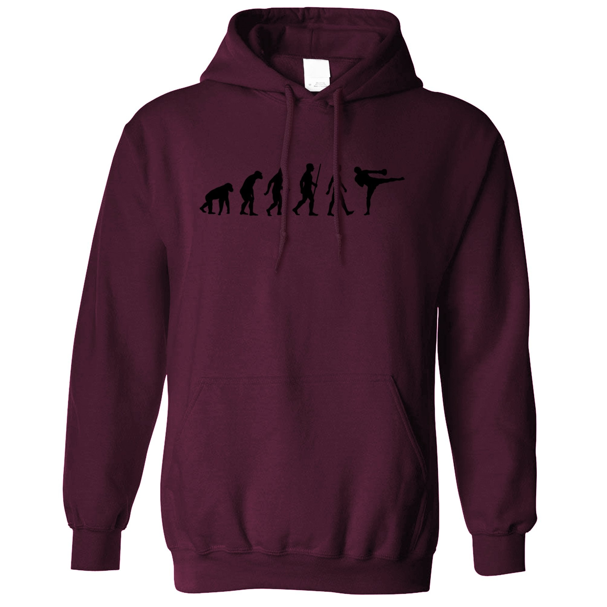 Kickboxing Hoodie The Evolution of Kickboxing Hooded Jumper