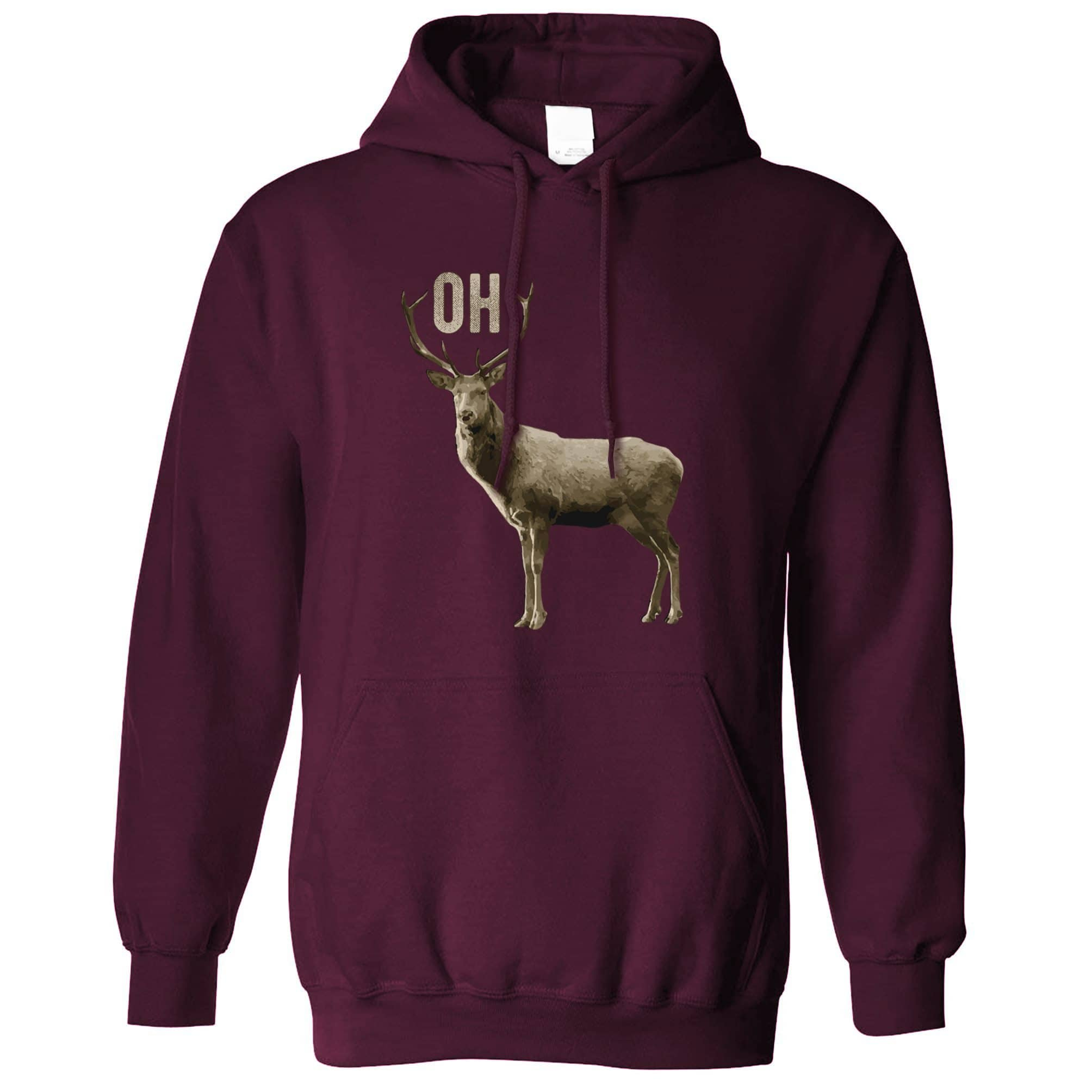 Buck Doe Hoodie Funny Oh Deer Pun Slogan Hooded Jumper