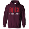 Pro Gaming Hoodie Apex Predator Slogan Hooded Jumper
