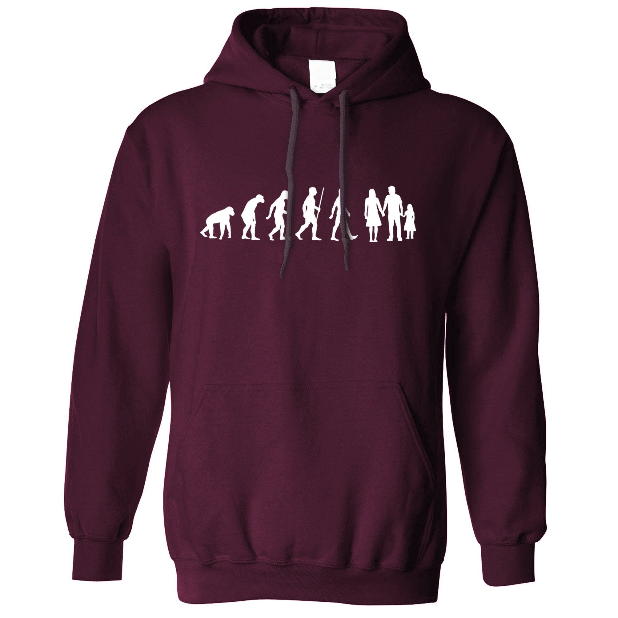 Parenthood Hoodie Evolution Of A Family Two Girls Hooded Jumper