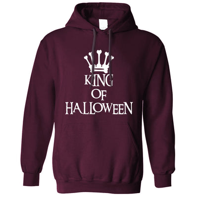Novelty Spooky Hoodie King Of Halloween Crown Hooded Jumper