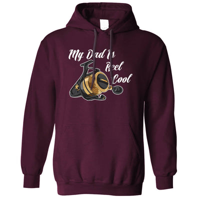 Father's Day Fishing Hoodie My Dad Is Reel Cool Pun Hooded Jumper