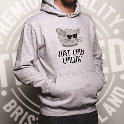 Funny Chinchilla Hoodie Just Chin Chilling Sunglasses