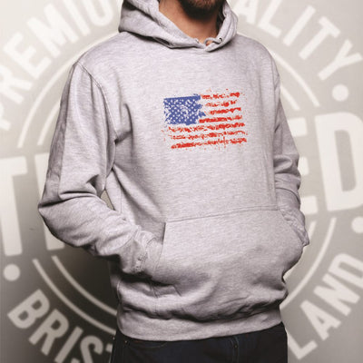 American Hoodie Paint Splatter US Flag Hooded Jumper