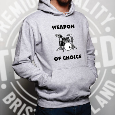 Novelty Music Hoodie Weapon of Choice Drums Hooded Jumper