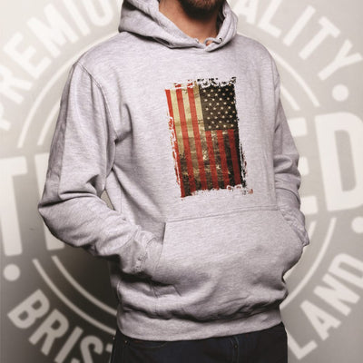 FASHION#CC Mens Pullover Hoodie Hooded with Pockets USA Flag Basketball