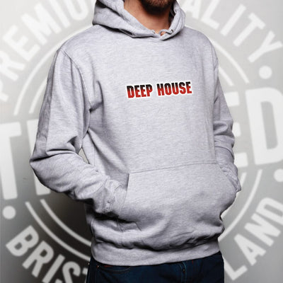 Music Genre Hoodie Deep House Parody Logo Hooded Jumper