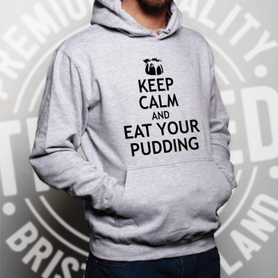Christmas Hoodie Keep Calm And Eat Your Xmas Pudding Hooded Jumper