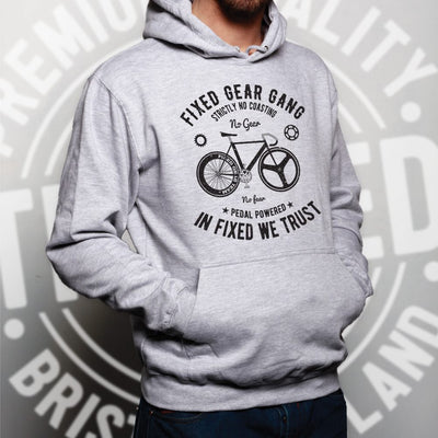 Cycling Hoodie Fixed Gear Gang Cyclist Biker Hooded Jumper