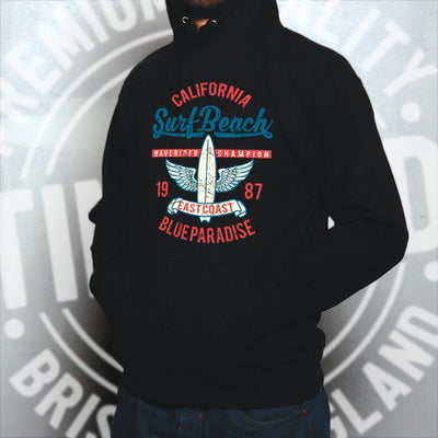 Retro Surfing Hoodie California Surf Beach Champion Hooded Jumper
