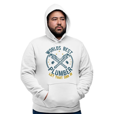 World's Best Plumber Hoodie Hooded Jumper