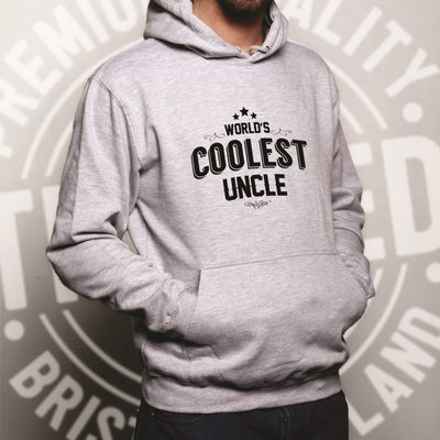 Novelty Hoodie Worlds Coolest Uncle Slogan Hooded Jumper