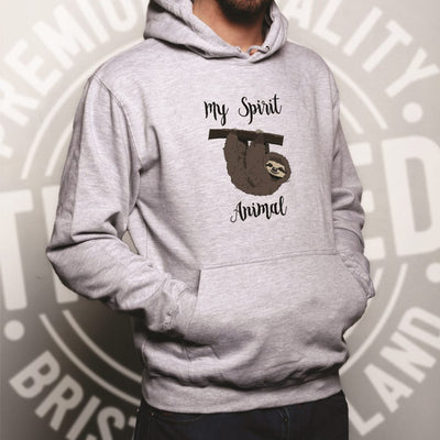 Novelty Lazy Hoodie My Spirit Animal Is A Sloth Hooded Jumper