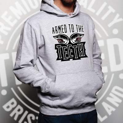 Sharks Hoodie Armed To The Teeth Weapon Expert Hooded Jumper
