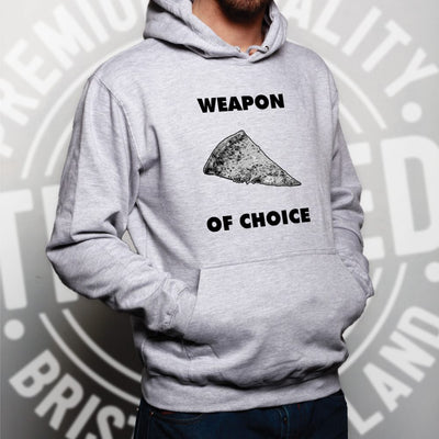 Novelty Food Hoodie Weapon of Choice Pizza Slice Hooded Jumper