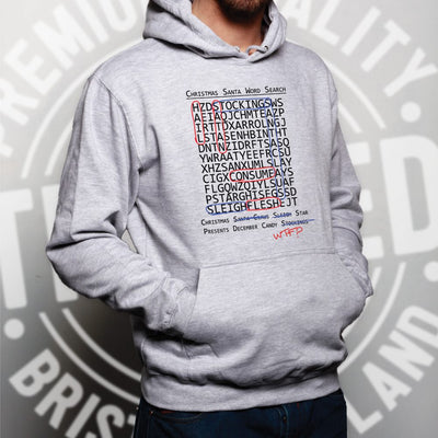 Halloween Christmas Hoodie Crossword Hidden Words Hooded Jumper