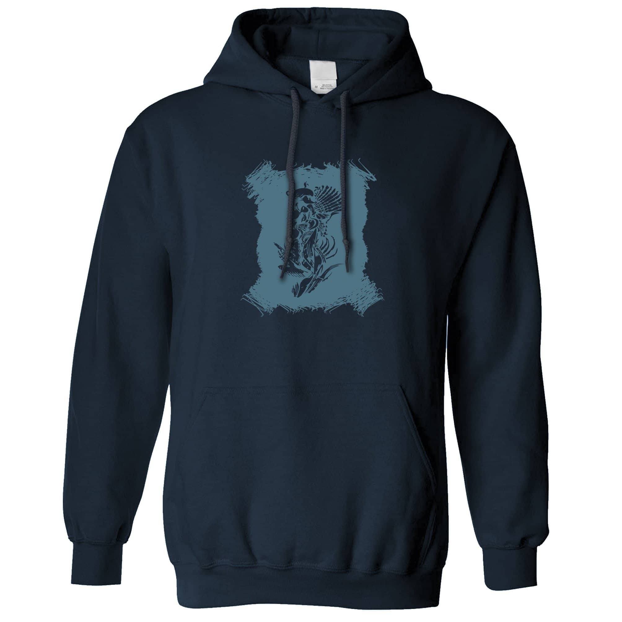 Abstract Tribal Art Hoodie Native American Indian Hooded Jumper