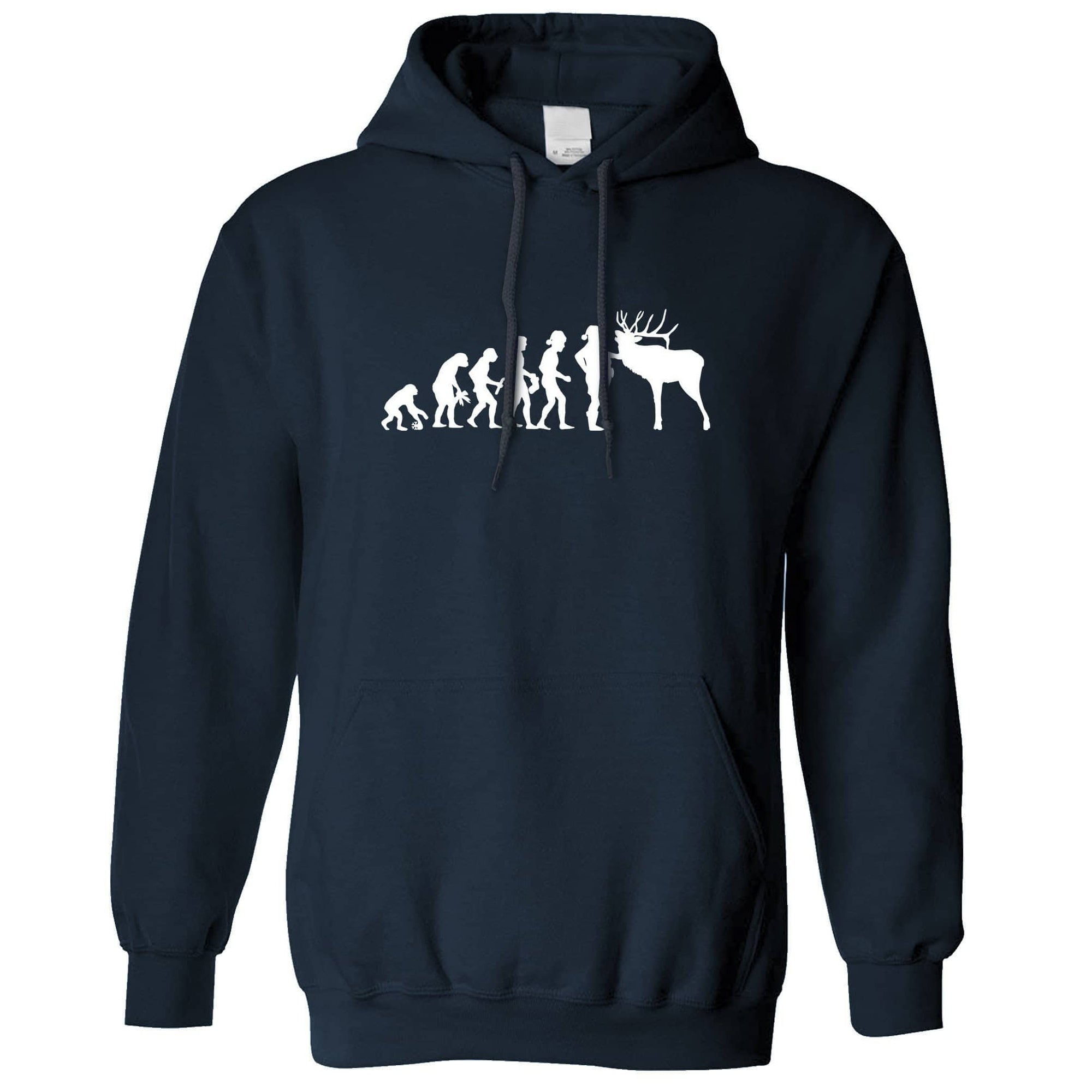 Novelty Christmas Hoodie Evolution Of Xmas Holiday Hooded Jumper