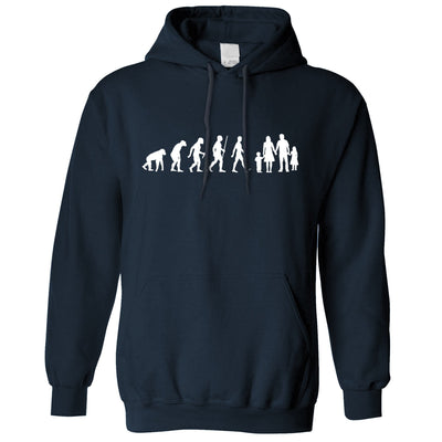 Parenthood Hoodie Evolution Of A Family Girl And Boy Hooded Jumper
