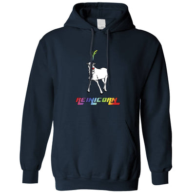 Christmas Hoodie Reinicorn Reindeer Unicorn Hooded Jumper
