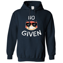 Novelty Animal Pun Unisex Hoodie No Fox Given Joke