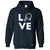 Table Tennis Hoodie Love Blade Ping Pong Player Bat & Ball Hooded