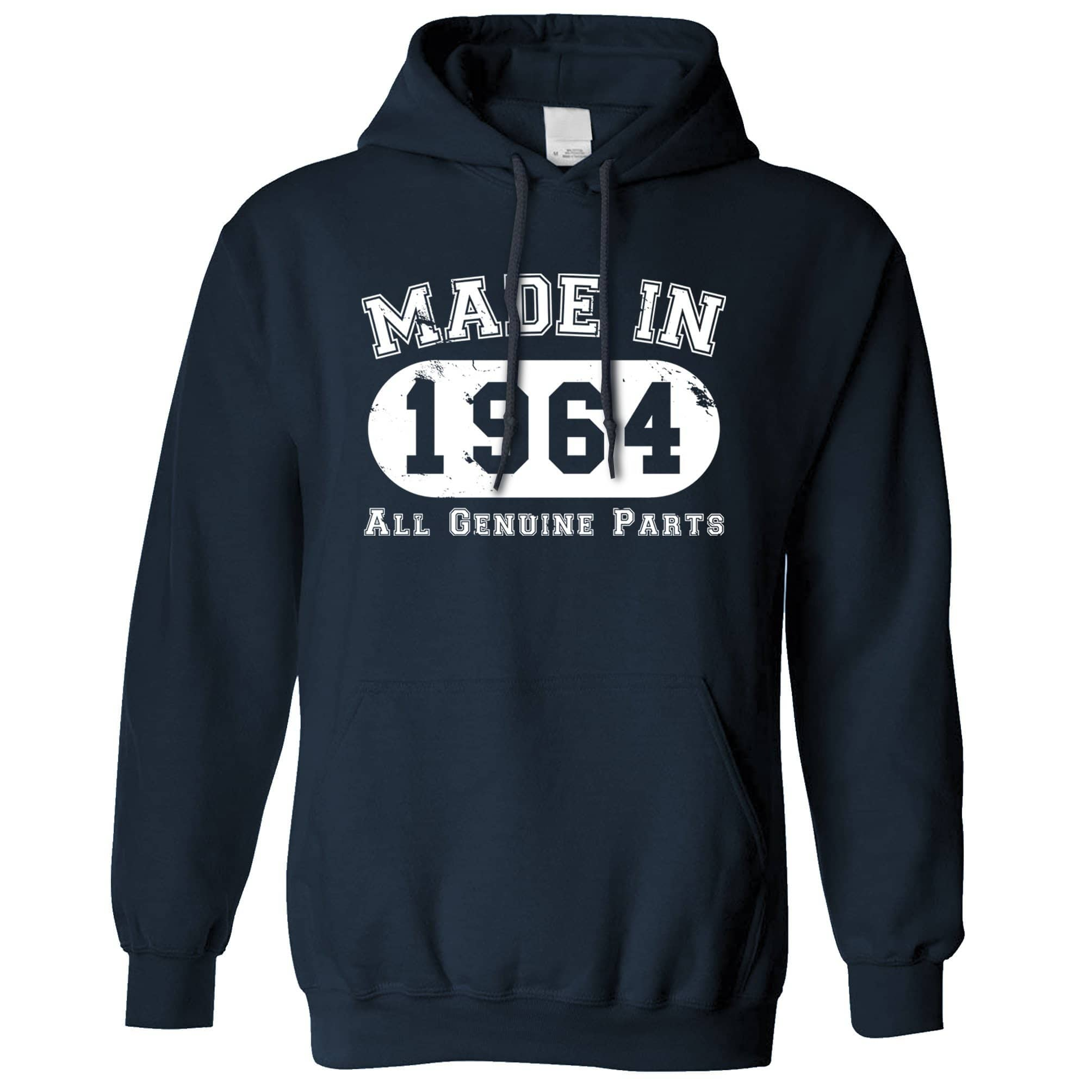 Birthday Hoodie Made in 1964 All Genuine Parts Hooded Jumper