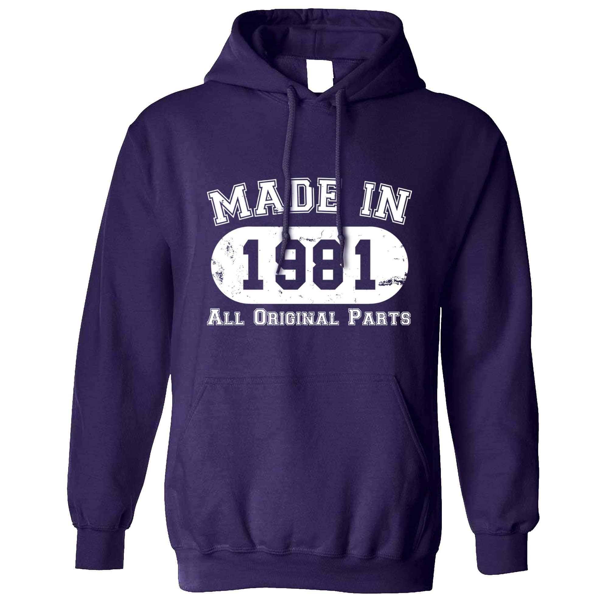 Made in 1981 All Original Parts Hoodie [Distressed]