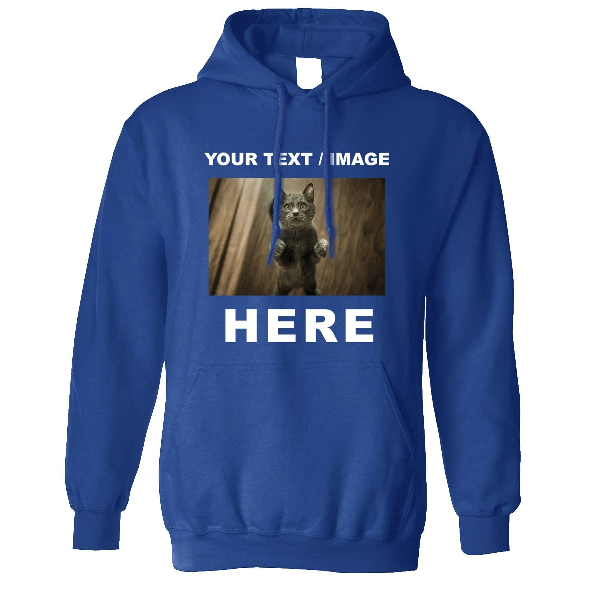Custom Printed Hoodie with Your Text or Image