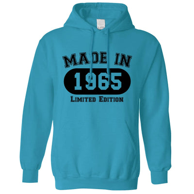 Birthday Hoodie Made in 1965 Limited Edition Hooded Jumper