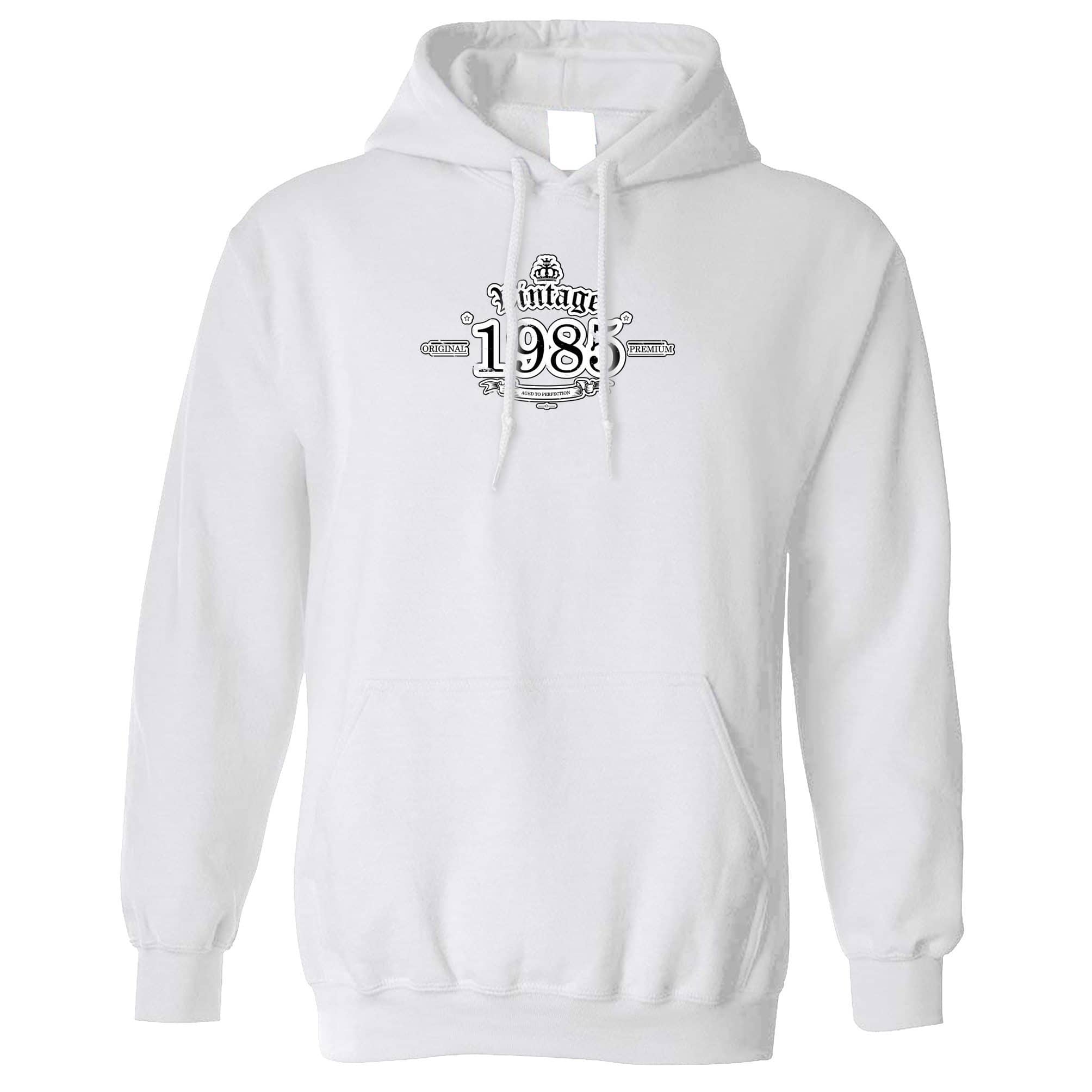 33rd Birthday Hoodie Vintage 1985 Aged To Perfection Hooded Jumper