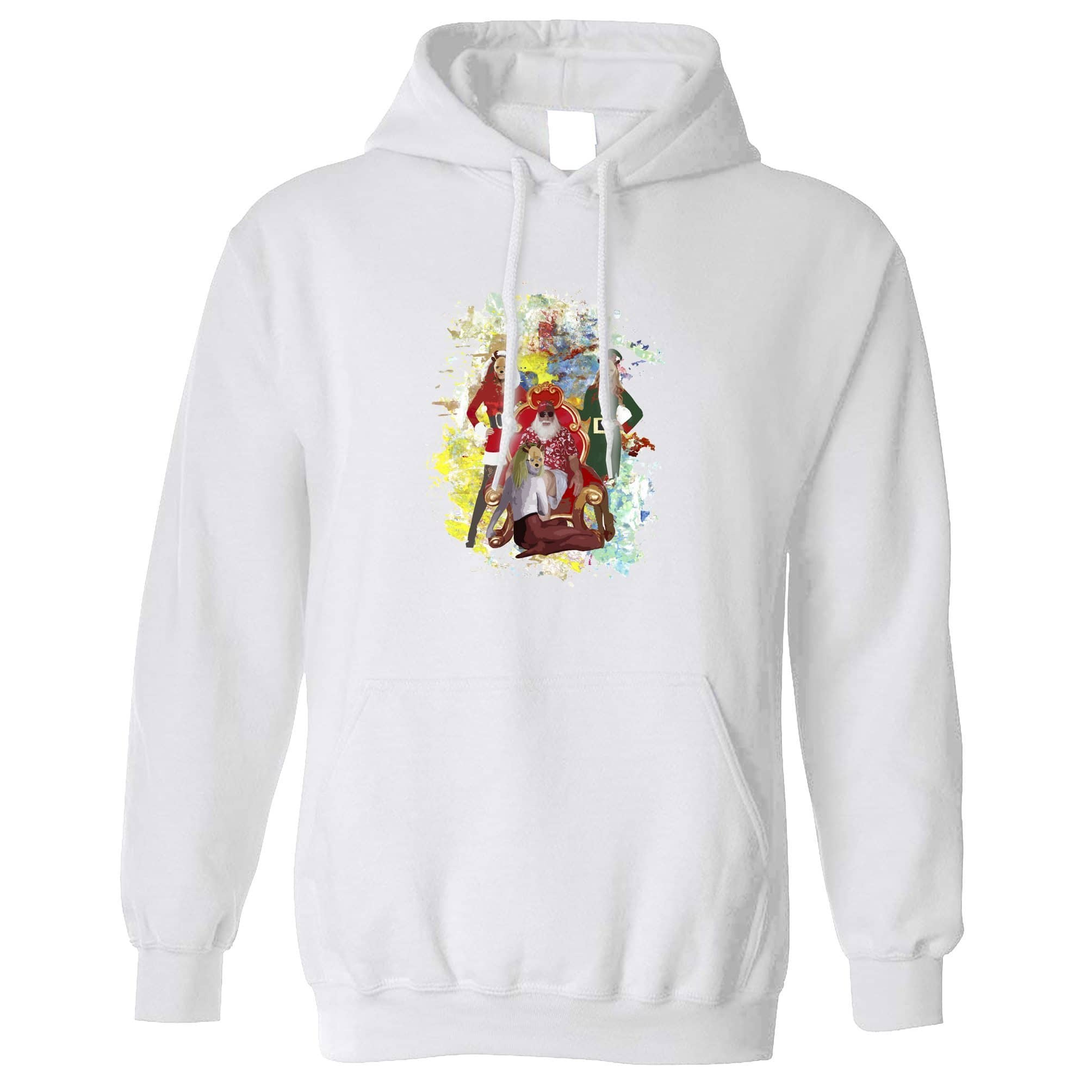 Father Christmas Hoodie Santa And His Ho Hoe Hoes Hooded Jumper