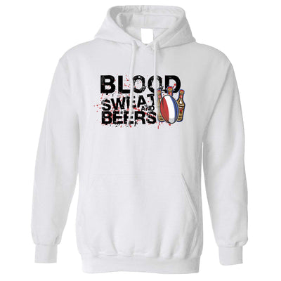 France Rugby Supporters Hoodie Blood, Sweat And Beers Hooded Jumper